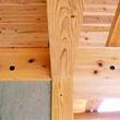 棟木、登梁の接合部 (両引きDボルト)